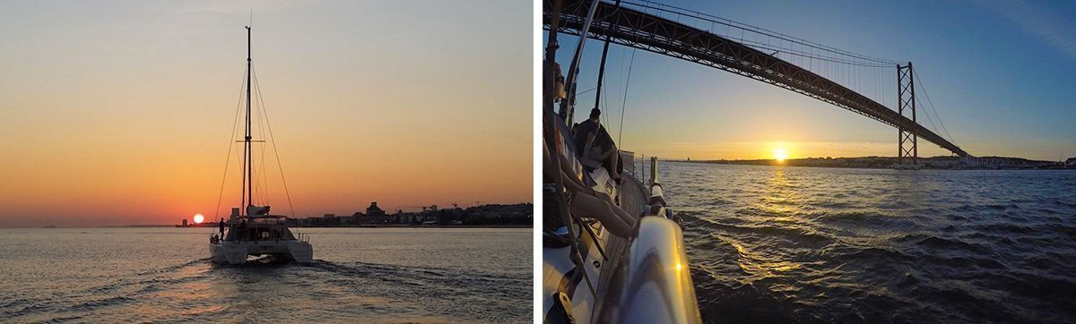 Sunset boat tour Lisbon
